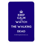 [Crown] keep calm and watch the walking dead  Flexible magnets