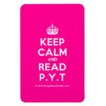 [Crown] keep calm and read p.y.t  Flexible magnets