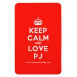 [Crown] keep calm and love pj  Flexible magnets