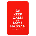 [Crown] keep calm and love hassan  Flexible magnets