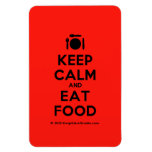 [Cutlery and plate] keep calm and eat food  Flexible magnets