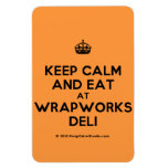[Crown] keep calm and eat at wrapworks deli  Flexible magnets