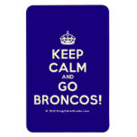 [Crown] keep calm and go broncos!  Flexible magnets