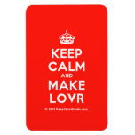 [Crown] keep calm and make lovr  Flexible magnets