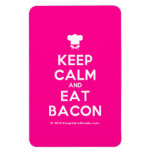 [Chef hat] keep calm and eat bacon  Flexible magnets