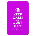 [Cutlery and plate] keep calm and just eat  Flexible magnets