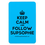 [Crown] keep calm and follow supsophie  Flexible magnets