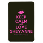 [Two hearts] keep calm and love sheyanne  Flexible magnets