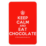 [Cupcake] keep calm and eat chocolate  Flexible magnets