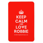 [Crown] keep calm and love robbie  Flexible magnets