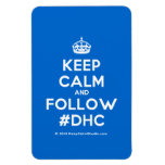 [Crown] keep calm and follow #dhc  Flexible magnets