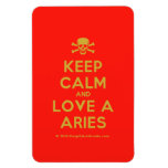 [Skull crossed bones] keep calm and love a aries  Flexible magnets