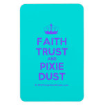 [Knitting crown] faith trust and pixie dust  Flexible magnets