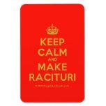 [Crown] keep calm and make racituri  Flexible magnets
