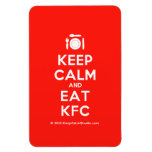 [Cutlery and plate] keep calm and eat kfc  Flexible magnets
