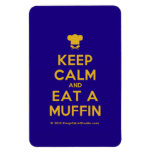 [Chef hat] keep calm and eat a muffin  Flexible magnets