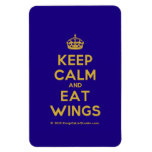 [Crown] keep calm and eat wings  Flexible magnets