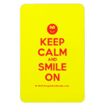 [Smile] keep calm and smile on  Flexible magnets