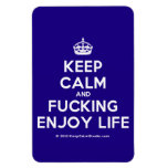 [Crown] keep calm and fucking enjoy life  Flexible magnets