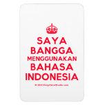 [Crown] saya bangga menggunakan bahasa indonesia  Flexible magnets