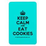 [Crown] keep calm and eat cookies  Flexible magnets