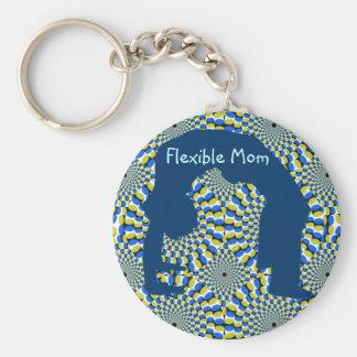 Flexible Mom keychain