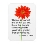 Flexible Motivational Magnet With Quote