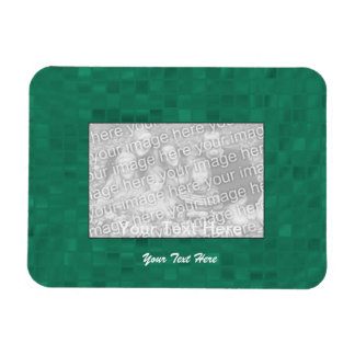 Flexible Photo Magnet - Green Mosaic Border
