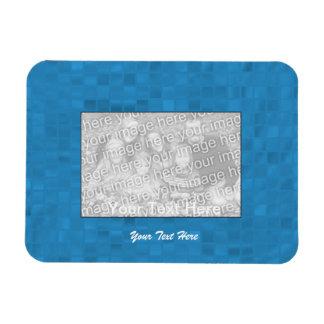 Flexible Photo Magnet - Light Blue Mosaic Border