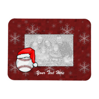 Flexible Photo Magnet - Santa Baseball