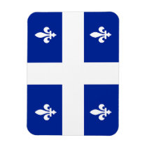 Flexible photo magnet with flag of Quebec
