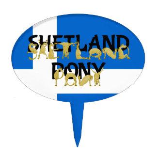 Flexible Ponies - Shetland Cake Topper