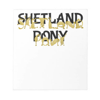 Flexible Ponies - Shetland Memo Pad