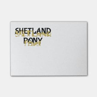 Flexible Ponies - Shetland Post-it Notes