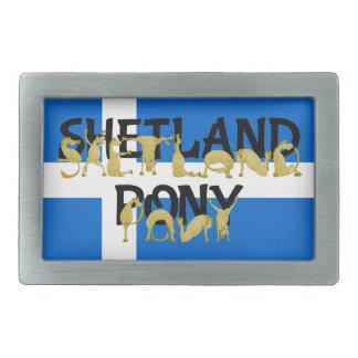 Flexible Ponies - Shetland Rectangular Belt Buckle