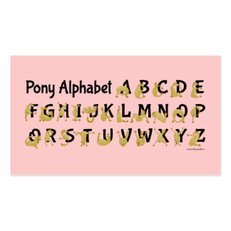 Flexible Pony | Alphabet Chart Double-Sided Standard Business Cards (Pack Of 100)