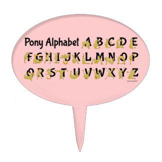 Flexible Pony | Alphabet Chart Cake Topper