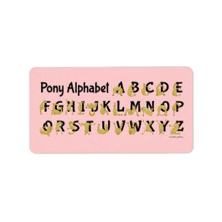Flexible Pony | Alphabet Chart Label