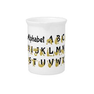 Flexible Pony   Alphabet Chart Pitcher