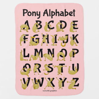 Flexible Pony | Alphabet Chart Receiving Blanket