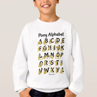 Flexible Pony | Alphabet Chart Sweatshirt