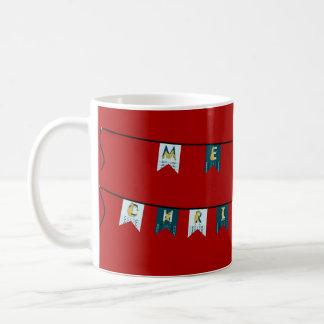 Flexible pony Merry Christmas bunting Coffee Mug