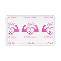 Flexing arms to fight breast cancer acrylic tray