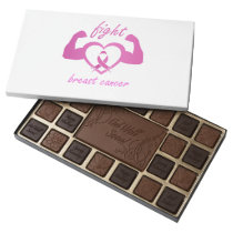 Flexing arms to fight breast cancer assorted chocolates