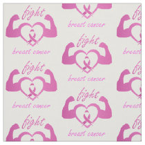 Flexing arms to fight breast cancer fabric