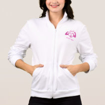 Flexing arms to fight breast cancer jacket