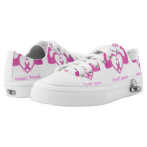 Flexing arms to fight breast cancer Low-Top sneakers