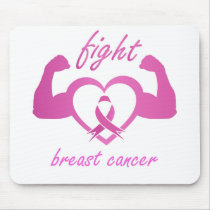 Flexing arms to fight breast cancer mouse pad