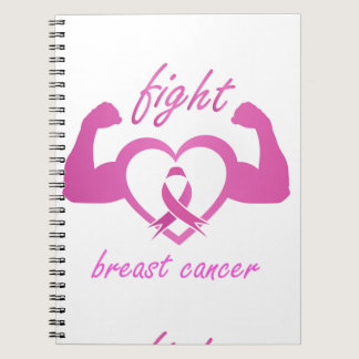 Flexing arms to fight breast cancer notebook