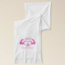 Flexing arms to fight breast cancer scarf